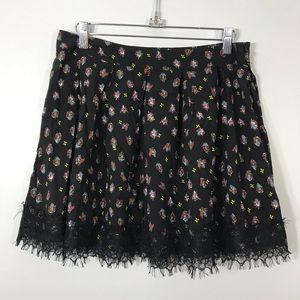 🌷Olsenboye | Pleated Floral Print Mini Skirt